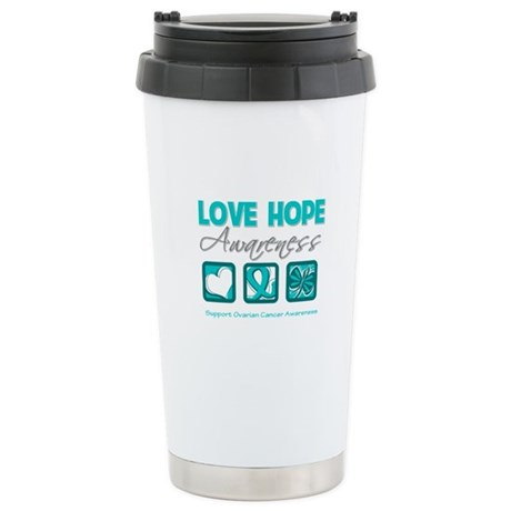 Ovarian Cancer LoveHope Ceramic Travel Mug