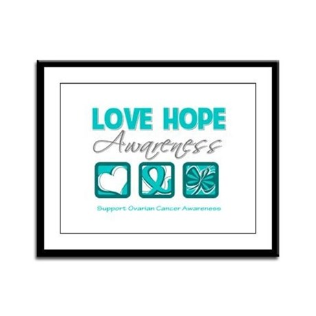 Ovarian Cancer LoveHope Framed Panel Print