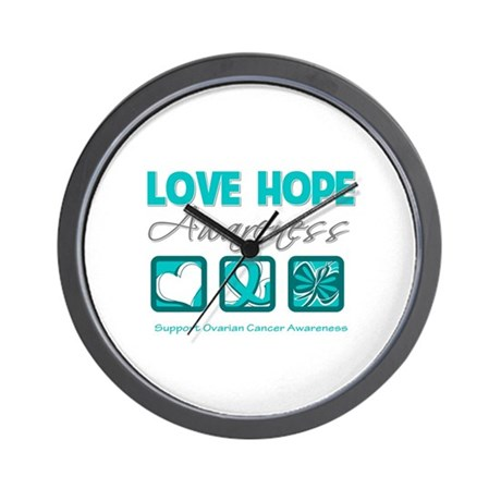 Ovarian Cancer LoveHope Wall Clock