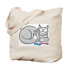 Gray/White ASL Kitty Tote Bag