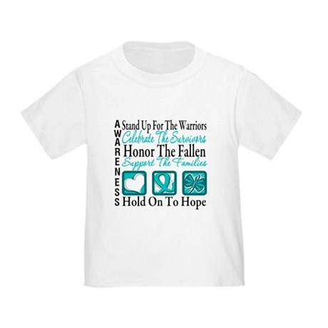 Ovarian Cancer StandUp Toddler T-Shirt