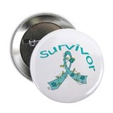 Ovarian Cancer Floral 2.25&quot; Button