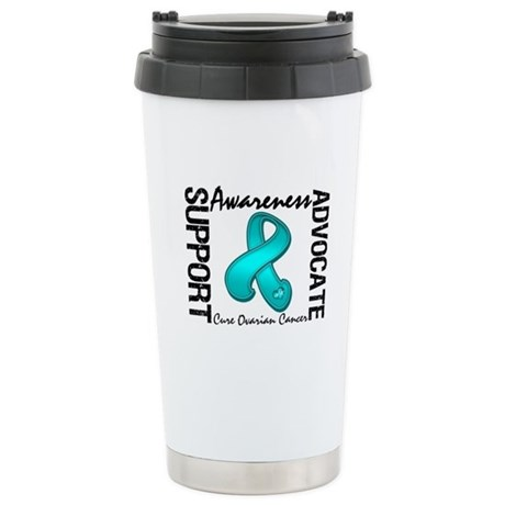 Ovarian Cancer Activism Ceramic Travel Mug