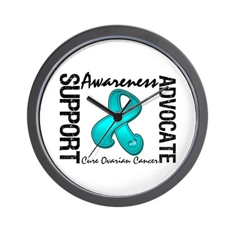 Ovarian Cancer Activism Wall Clock