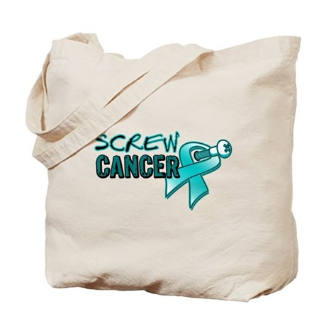 Screw Ovarian Cancer Tote Bag