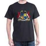 Mauritius Coat Of Arms Black T-Shirt