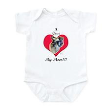 Schnauzer I Love Mom! Infant Creeper