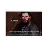 Leo Tolstoy Religion Morality Rectangle Magnet