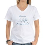 Pheidippides Died! Women's V-Neck T-Shirt