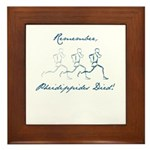 Pheidippides Died! Framed Tile