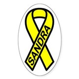 SANDRA - Yellow Ribbon Oval Decal