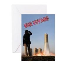Cute The rocket summer Greeting Cards (Pk of 10)