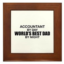 World's Greatest Dad - Accountant Framed Tile