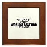 World's Greatest Dad - Attorney Framed Tile
