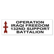 Co C, 132nd Support Bn <BR>Iraq Bumper Sticker 2