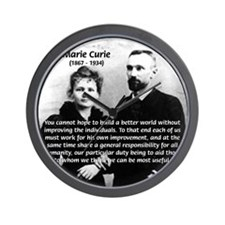 Humanities Quote Marie Curie Wall Clock