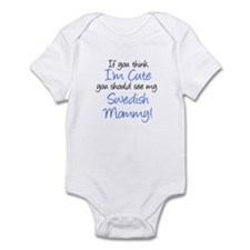 Think I'm Cute Swedish Mommy Infant Bodysuit