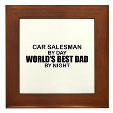 World's Best Dad - Car Salesman Framed Tile
