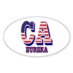 California Oval Sticker