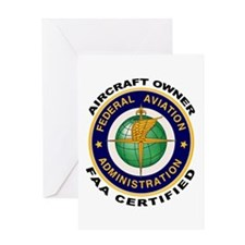 FAA Certified Aircraft Owner Greeting Card