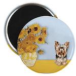 Sunflowers / Yorkie #17 Magnet