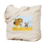 Sunflowers / Yorkie #17 Tote Bag