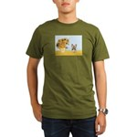 Sunflowers / Yorkie #17 Organic Men's T-Shirt (dar