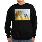 Sunflowers / Yorkie #17 Sweatshirt (dark)