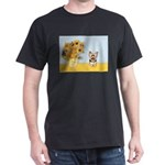 Sunflowers / Yorkie #17 Dark T-Shirt