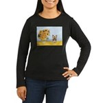 Sunflowers / Yorkie #17 Women's Long Sleeve Dark T
