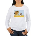 Sunflowers / Yorkie #17 Women's Long Sleeve T-Shir