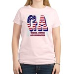Georgia Women's Pink T-Shirt