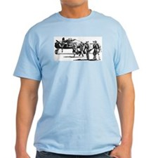 B-25 Crew Walking to Bomber Ash Grey T-Shirt