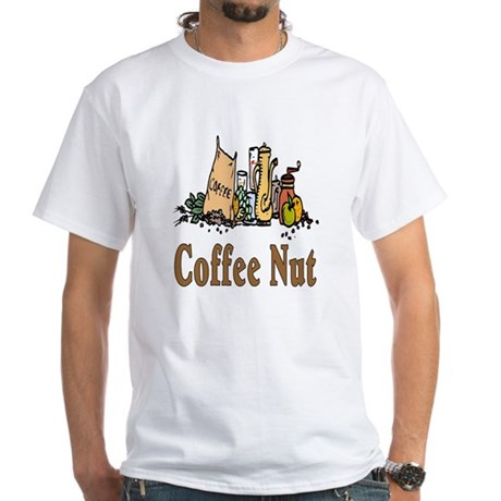 Coffee Nut White T-Shirt