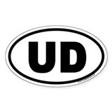 UD Euro Oval Decal