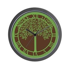 Green Tree Wall Clock