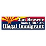 Jan Brewer Illegal Immigrant Bumper Sticker