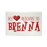 My Heart Belongs to Brenna Rectangle Magnet (10 pa