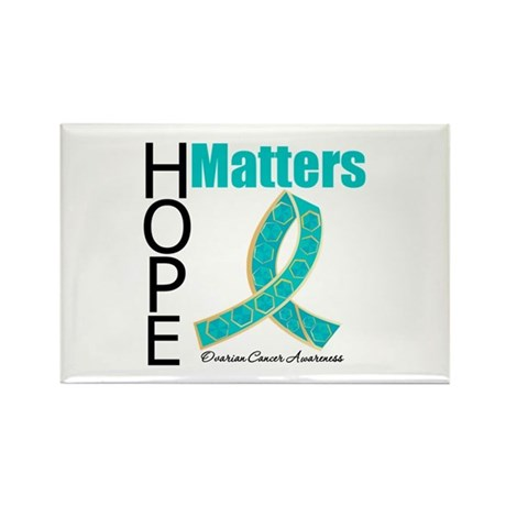 HopeMatters TealRibbon Rectangle Magnet