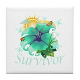 Survivor Flower Tile Coaster