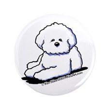 "Bichon Frise 3.5"" Button (100 pack)"
