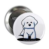 "Bichon Frise II 2.25"" Button"