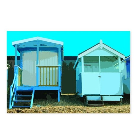 Beach Hut 7 Postcards (Package of 8)