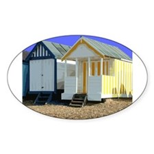 Beach Hut 9 Oval Decal