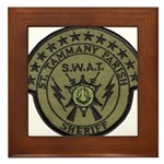 St. Tammany Parish Sheriff SW Framed Tile