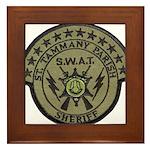 St. Tammany Parish Sheriff SW Framed Tile