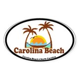 Carolina Beach NC - Palm Trees Design Decal