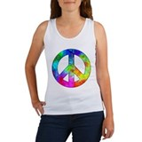 Retro tie-dyed peace sign Women's Tank Top