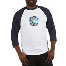 Carolina Beach NC - Beach Design Baseball Jersey