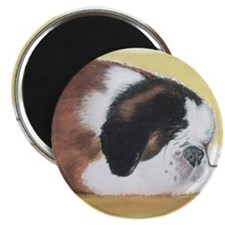 sleeping saint bernard Magnet
